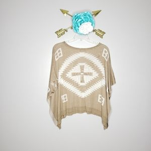 Beulah Style Southwest Button Poncho
